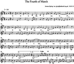 Fourth of March w harmony and chords