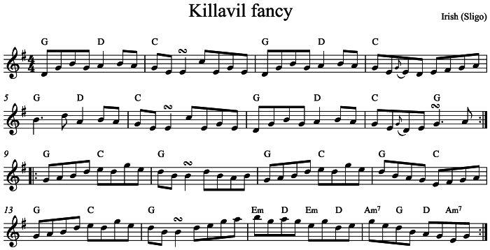 Killavil Fancy Laurel Swift Folk Music Tuition