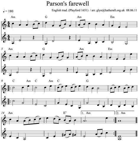 Parson's farewell Am TT
