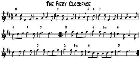 The Fiery Clockface
