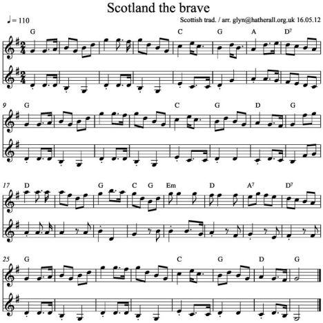 Scotland the Brave v,c G