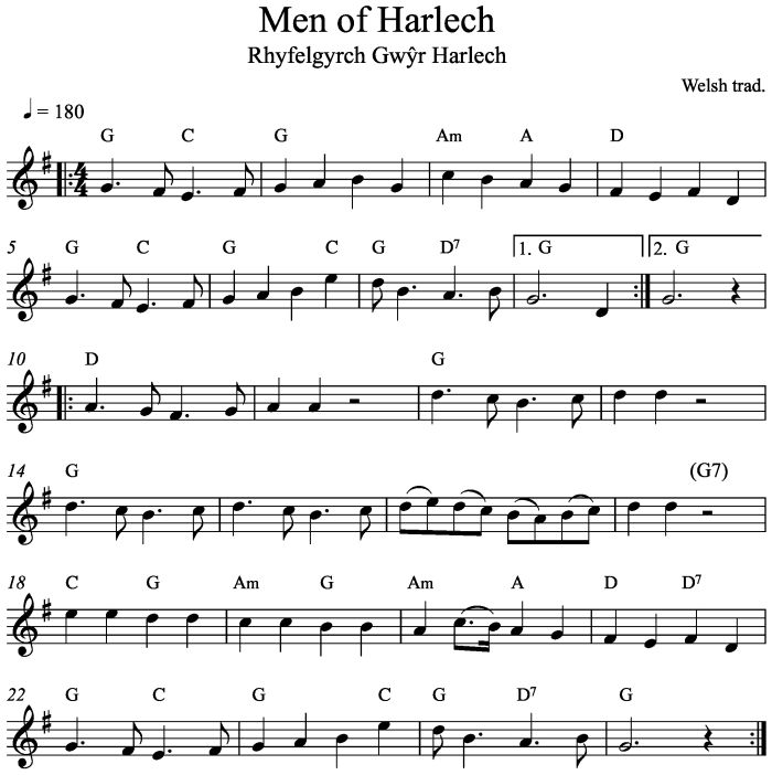 Men Of Harlech | Laurel Swift Folk Music Tuition