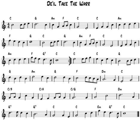 De'il Take The Warr