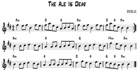 The ale is dear