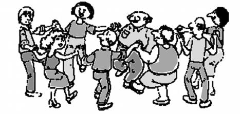 illustration barn dance flyer